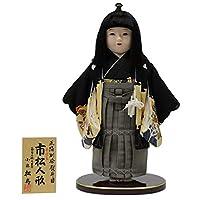 市松人形 正絹一越熨斗目(男) CY21211 幅35cm 【3mk76】松寿 雛祭り