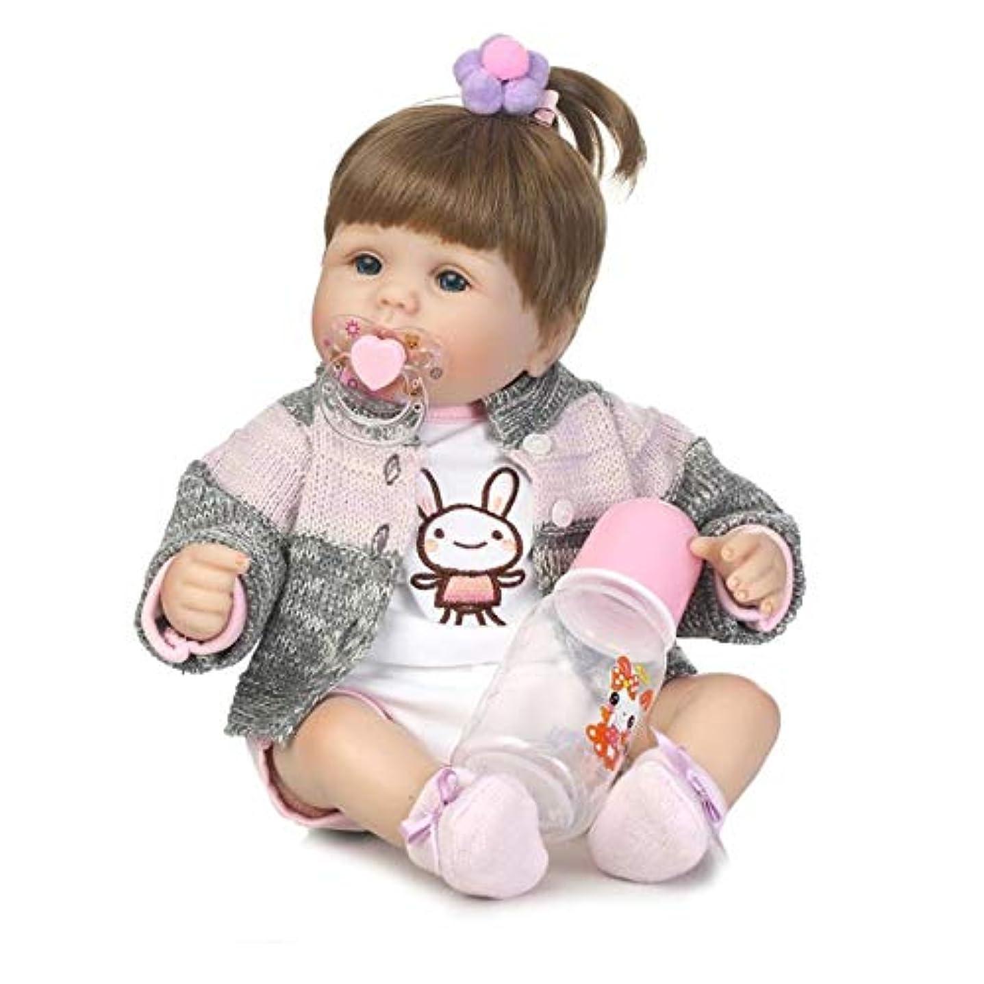 欺兵隊オーストラリア人40センチ布ボディソフトシリコーンビニール赤ちゃん人形リアルな新生児赤ちゃん人形のおもちゃ生まれ変わった赤ちゃん人形プレイメイトギフト生きているおもちゃ人形 - カラフル-1サイズ