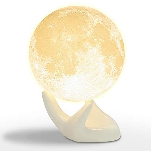 月のランプ ベッドサイドランプ 間接照明 夜間ライト インテ...