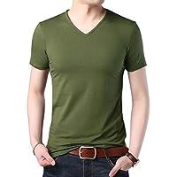 [CEEN] Tシャツ メンズ 半袖 vネック 無地 コットン カジュアル 5色展開