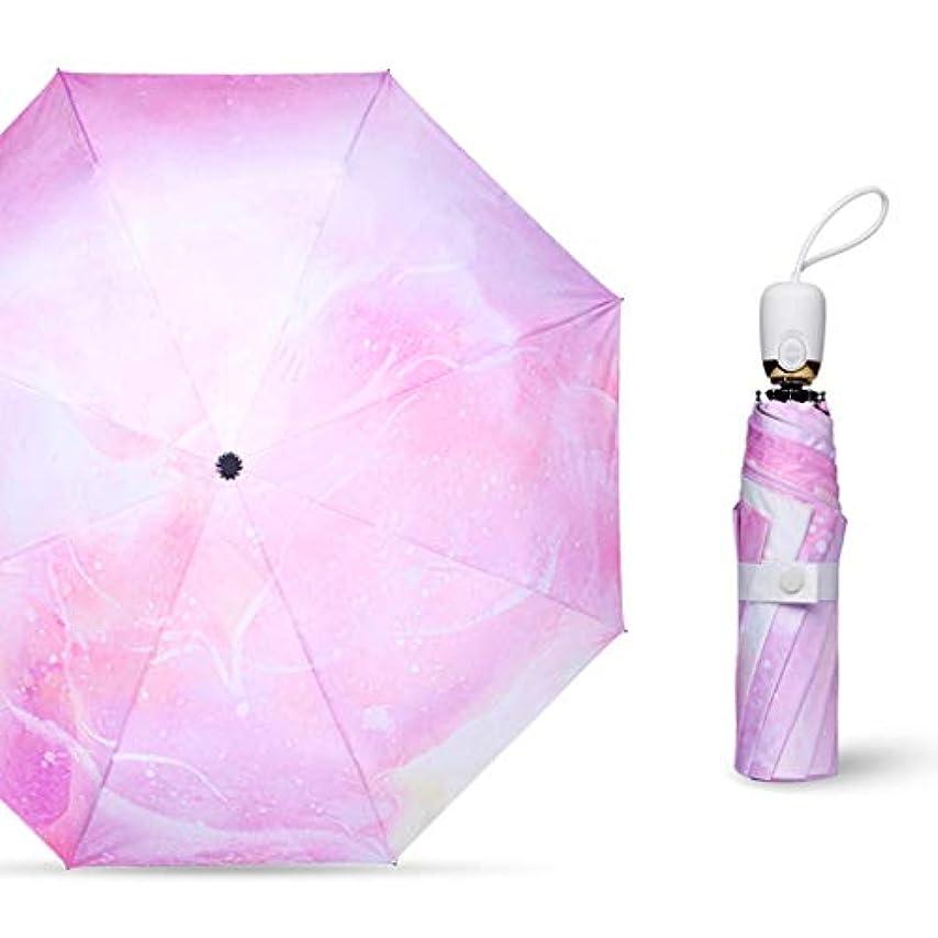 ベットアクション犬防風旅行傘、コンパクト折りたたみ傘自動オープンクローズ、8リブ、軽量高速乾燥 (Color : Pink)
