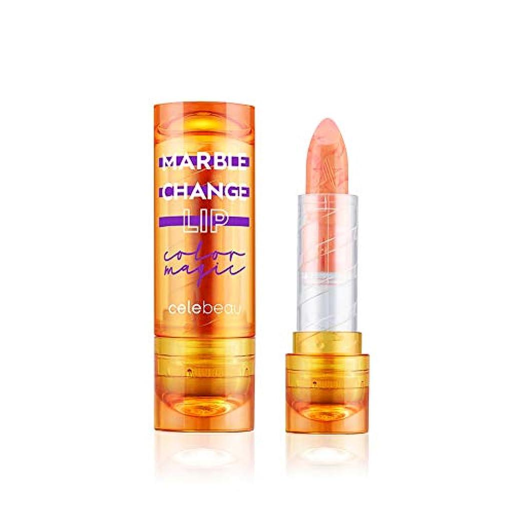 長椅子ビンスライス【celebeau公式】celebeau Marble Change Lip 3.5g/セレビュー マーブル チェンジ リップ 3.5g (03 バーニング オレンジ)