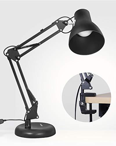 レトロ クランプ式 アームライト USB給電式 LEDデスクライト 無段階調光调色 卓上ライト 目に優しい 電気スタンド PC作業 仕事 寝室 読書 ベッドサイドランプ