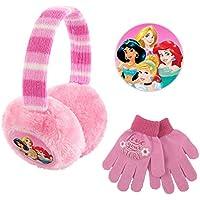 Disney girls Plush Girls Earmuffs and Glove Set Earmuffs