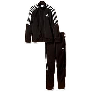 [アディダス] トレーニングウェア TIROジャージ上下セット (裾ジッパー) MLC01 [ボーイズ] ブラック/ホワイト 日本 J150 (日本サイズ150 相当)