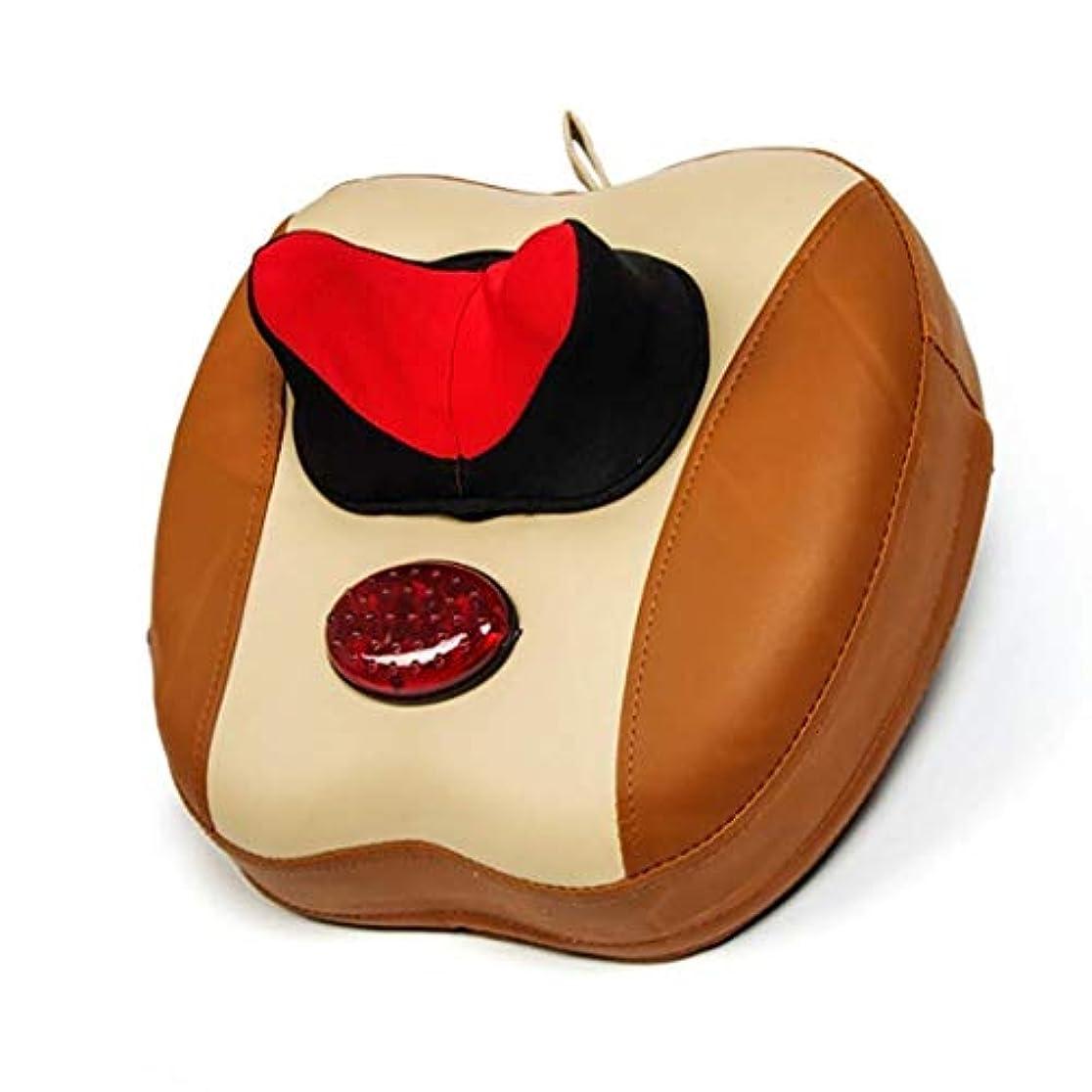 ビットジョブサーカス電動マッサージ枕、指圧マッサージネックマッサージ-マッサージ枕、ホットショルダー、ウエスト、脚、足を混練-筋肉痛を和らげるためにホームオフィスや車で使用できます