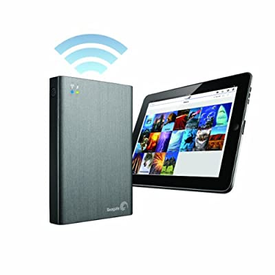 SEAGATE ワイヤレスポータブルHDDの進化版 ワイレスプラス 1TB(Wi-Fi ストリーミング内蔵)Seagate 【並行輸入品】