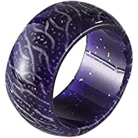 Nanafast Glow Resin Ring Christmas Luminous Ring Toy Kids Men Women Size 7-11