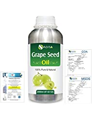 Grape Seed (Vitis vinifera) 100% Natural Pure Undiluted Uncut Carrier Oil 2000ml/67 fl.oz.