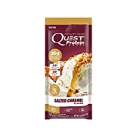 Quest Nutrition Protein Powder, Salted Caramel, 22g Protein, Soy Free, 12 Count