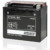 【液入れ初期補充電済み】 SUPER NATTO / STX20L-BS (65989-90B、65989-97A、65989-97B、65989-97C互換) ハーレー用 バッテリー 密閉型 MF 20L-BS