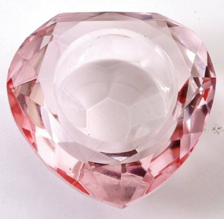 花瓶ハンカチラバジュエルドロップハート ピンク
