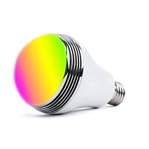 RoomClip商品情報 - iHOVEN スマートLED電球RGBワイヤレススピーカー内蔵Bluetooth4.0LEDライト 音楽再生 調光調色可 スマホ操作 E26/E27口金対応 スマートマルチカラー 普段照明用 LED超省エネ電球 多彩音楽電球APPコントロール 色彩変化と明度調整可能 Android/Apple IOSスマートフォンに適用 電球色 電球型 照明パーティー専用 目覚まし時計(1年安心保証付き)