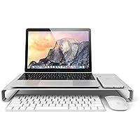 Satechi アルミニウム モニタースタンド 高品質ユニバーサル ユニボディ(ノートパソコン/ iMac / PC など対応) (シルバー)