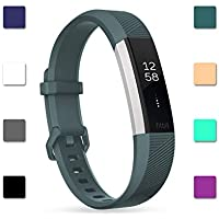 HSWAI Fitbit Altaバンド/Fitbit Alta HR 交換ベルト TPU材 サイズ調整可能 穴留め式 男女兼用