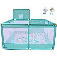 ベビーサークル 赤ちゃんの遊び場、ポータブル&コンパクト、強く耐久性のある遊びペンの安全な遊び場屋内の子供の遊びの柵 (色 : 青)