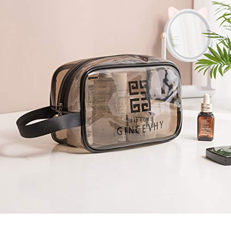 顕微鏡ほんのコメンテーターZhiop メンズ レディース 防水 コンパクト 収納 メイクブラシポーチ化粧品 透明メッシュ温泉 ビーチサイド旅行 化粧ポーチ メイクポーチ 大容量
