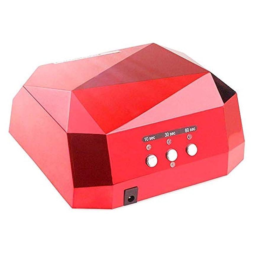 スチュアート島人類純正DHINGM 12のLEDライト付きネイルランプ、ダイヤモンドLEDネイルライトセンサー36 W LEDネイル乾燥ランプ、インテリジェントな自動センシングは、耐久性に優れ、爪を傷つけることはありません