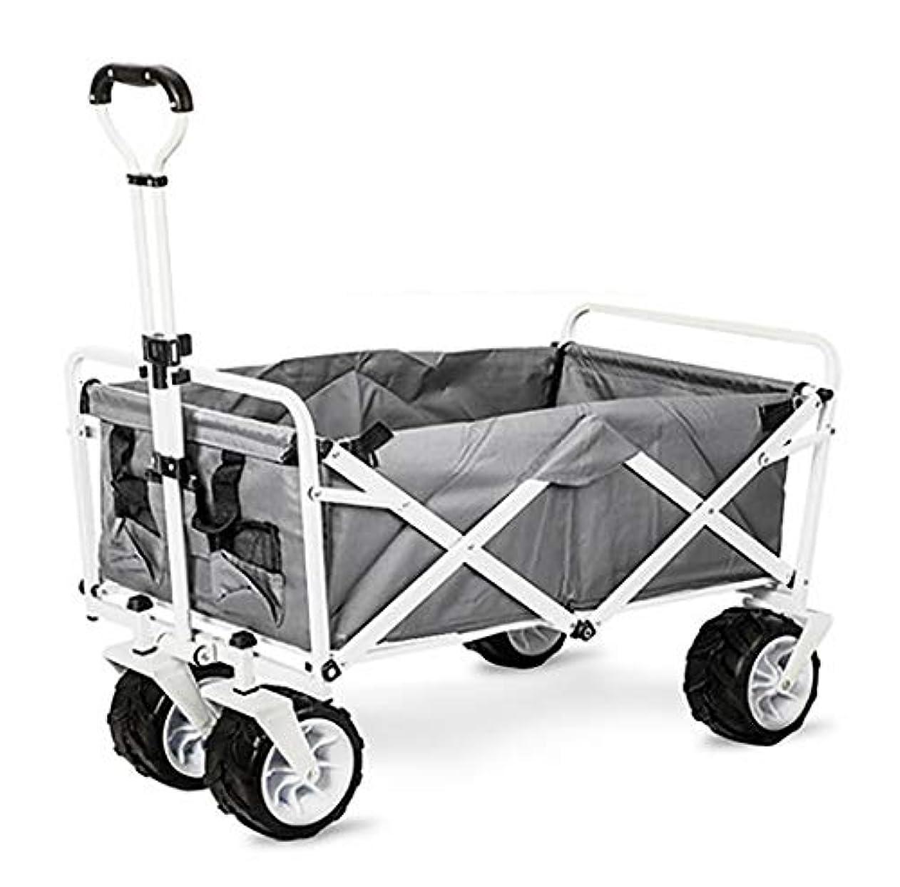 信頼満足団結YGUOZ アウトドアワゴン 折りたたみと車輪、キャリーワゴン 携帯型 軽量と側壁 アウトドア キャンプ レジャー(耐荷重 75kg / 165ポンド),gray