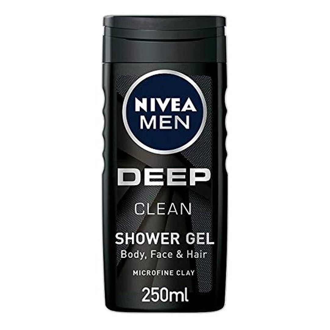 プリーツ未亡人杭[Nivea] ニベア男性用シャワージェル深いきれいな250ミリリットル - Nivea Men Shower Gel Deep Clean 250Ml [並行輸入品]