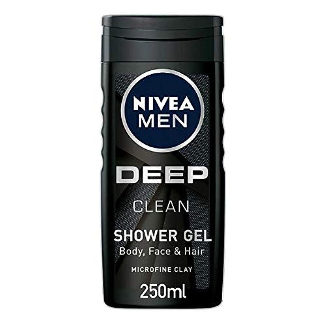 評価する揮発性櫛[Nivea] ニベア男性用シャワージェル深いきれいな250ミリリットル - Nivea Men Shower Gel Deep Clean 250Ml [並行輸入品]