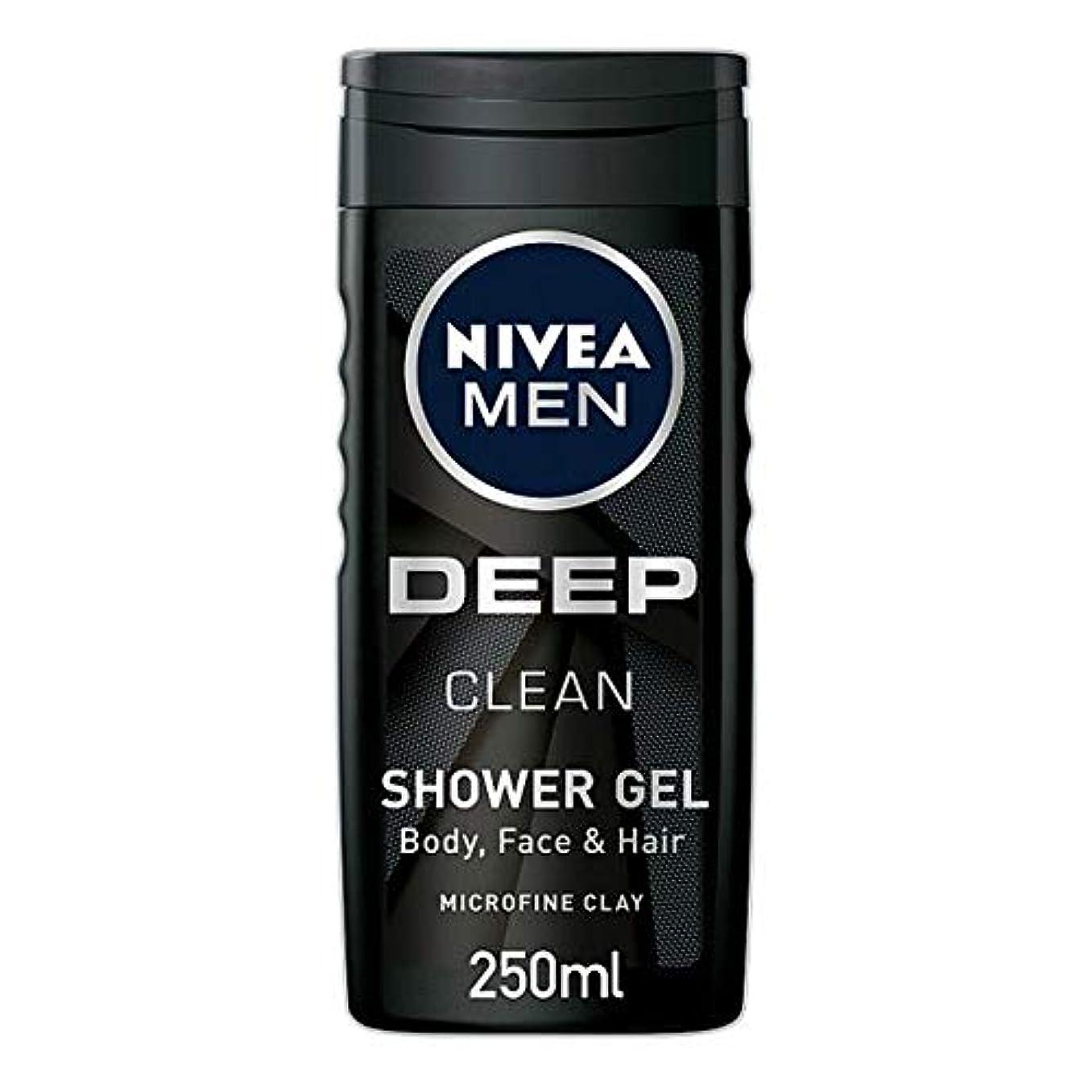 誓う残り下る[Nivea] ニベア男性用シャワージェル深いきれいな250ミリリットル - Nivea Men Shower Gel Deep Clean 250Ml [並行輸入品]