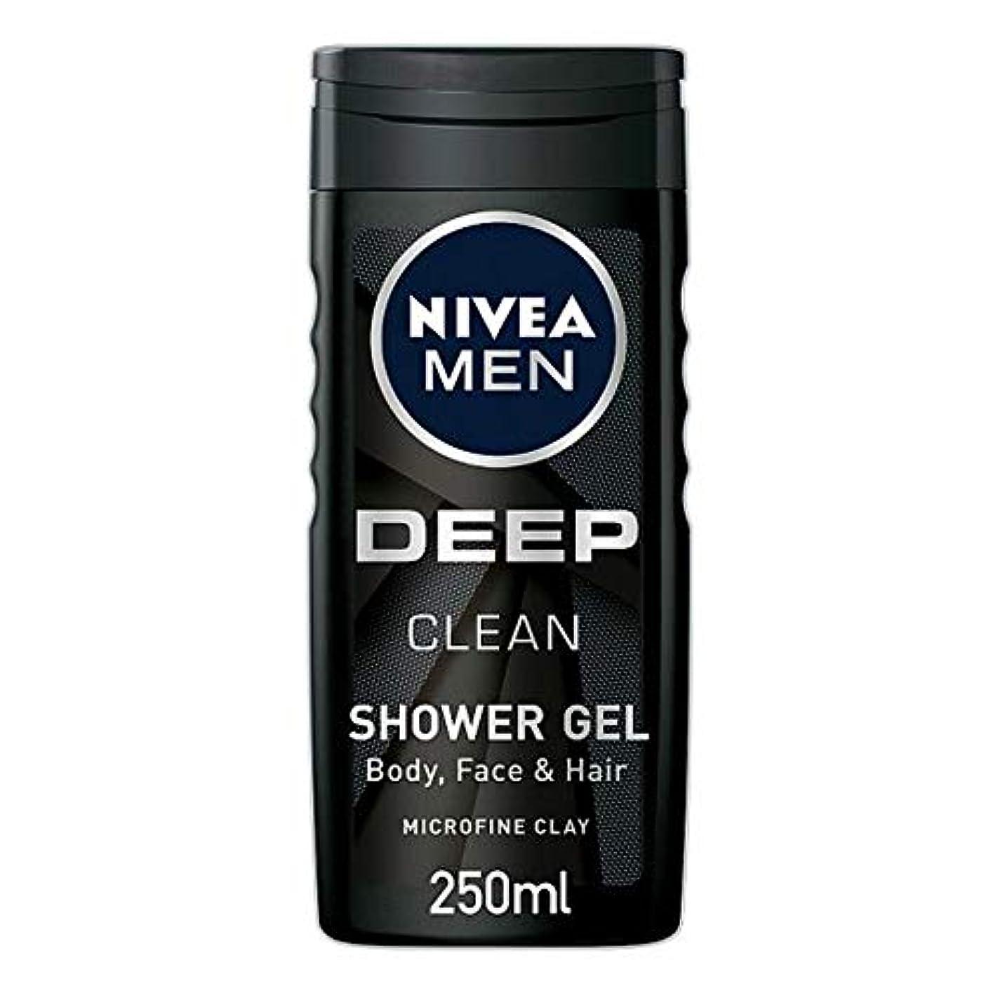 禁止するシリングタンク[Nivea] ニベア男性用シャワージェル深いきれいな250ミリリットル - Nivea Men Shower Gel Deep Clean 250Ml [並行輸入品]