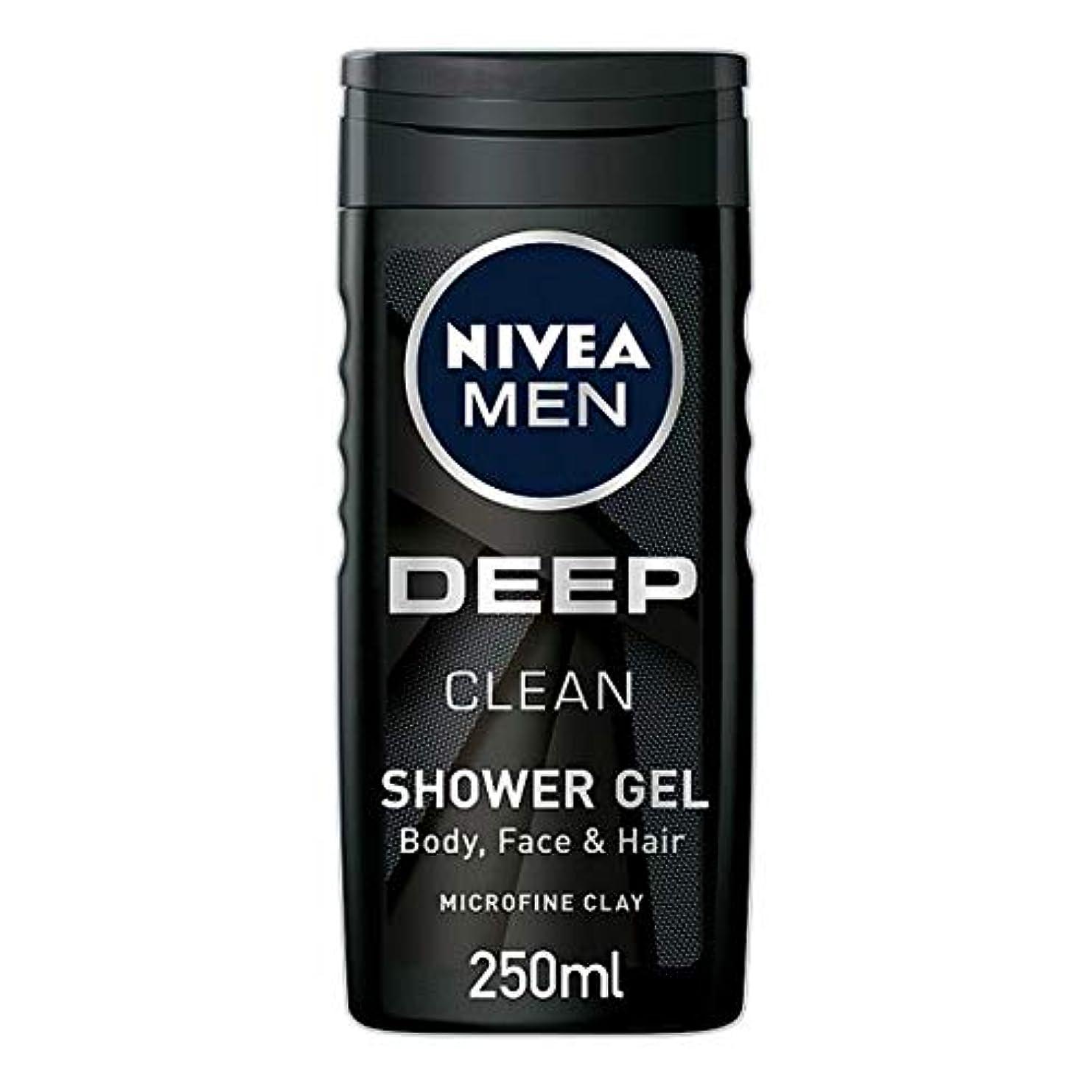円周キャンプラメ[Nivea] ニベア男性用シャワージェル深いきれいな250ミリリットル - Nivea Men Shower Gel Deep Clean 250Ml [並行輸入品]