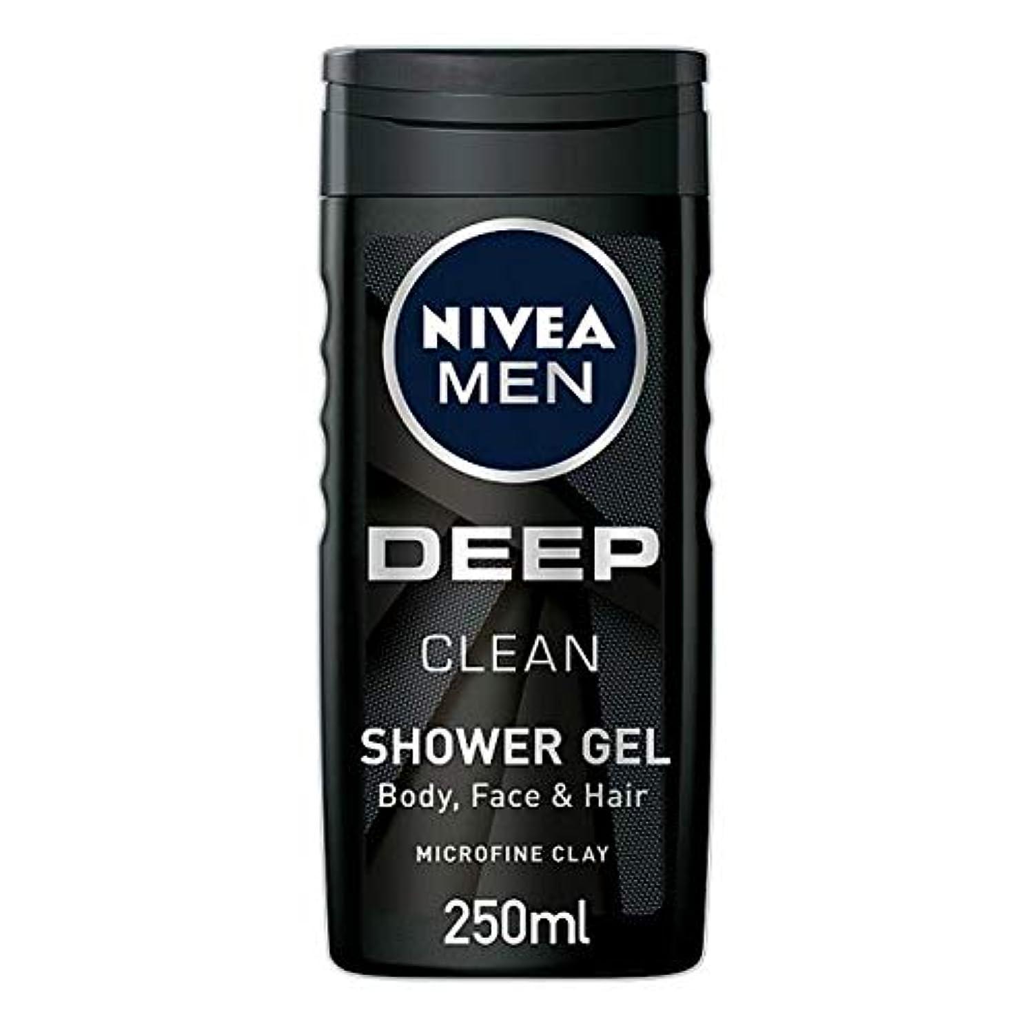 ダメージ非常に怒っています芽[Nivea] ニベア男性用シャワージェル深いきれいな250ミリリットル - Nivea Men Shower Gel Deep Clean 250Ml [並行輸入品]