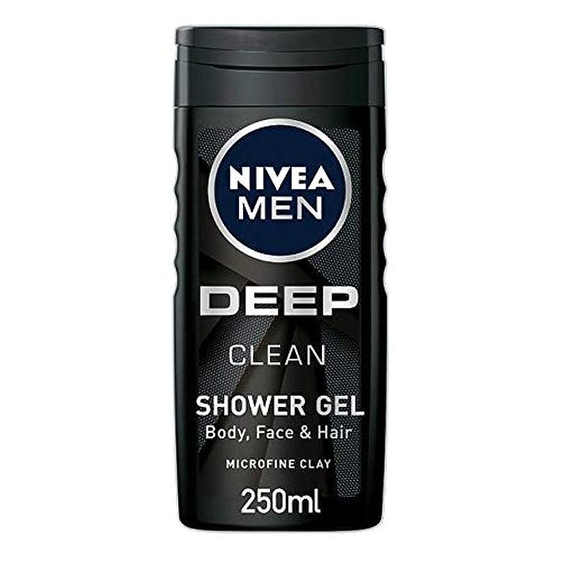 自分の同時スープ[Nivea] ニベア男性用シャワージェル深いきれいな250ミリリットル - Nivea Men Shower Gel Deep Clean 250Ml [並行輸入品]