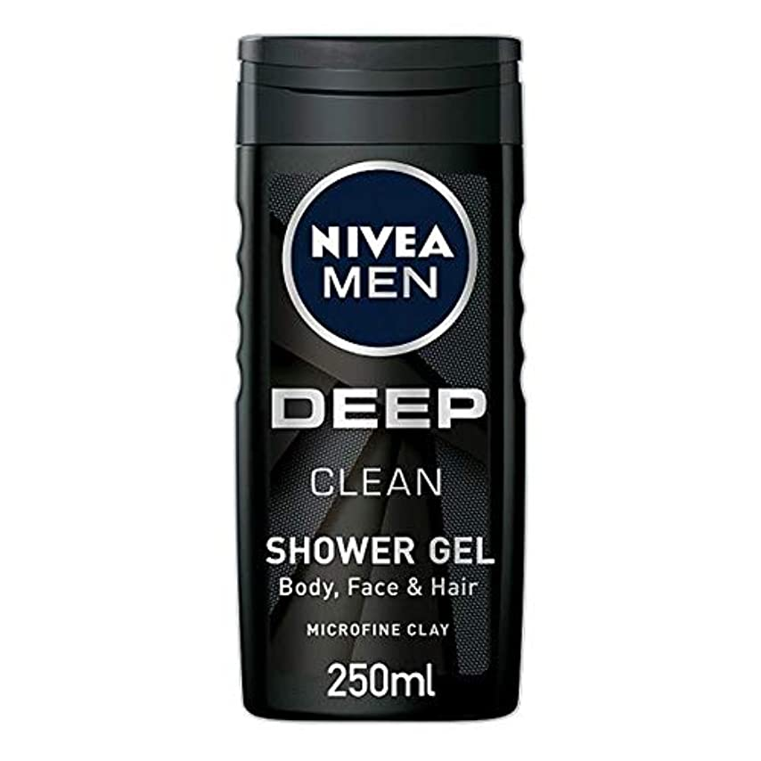 アサート陰謀石化する[Nivea] ニベア男性用シャワージェル深いきれいな250ミリリットル - Nivea Men Shower Gel Deep Clean 250Ml [並行輸入品]