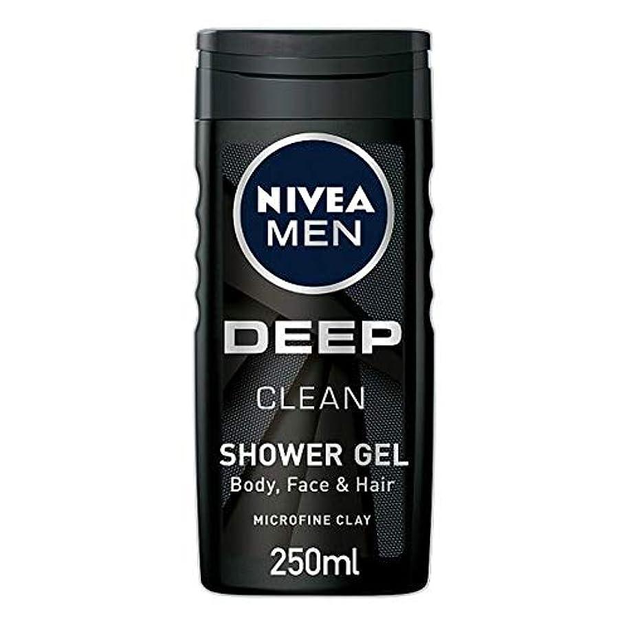 境界災難チョーク[Nivea] ニベア男性用シャワージェル深いきれいな250ミリリットル - Nivea Men Shower Gel Deep Clean 250Ml [並行輸入品]