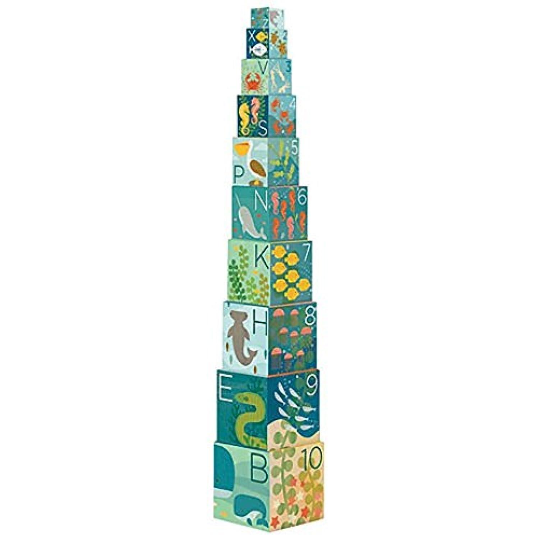Petit Collage Nesting Blocks Ocean ABC [並行輸入品]