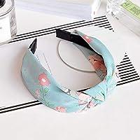 AKDSteel Women Girls Headband Top Knot Turban Headband Cross Bandage Scarf Hair Accessories 4#