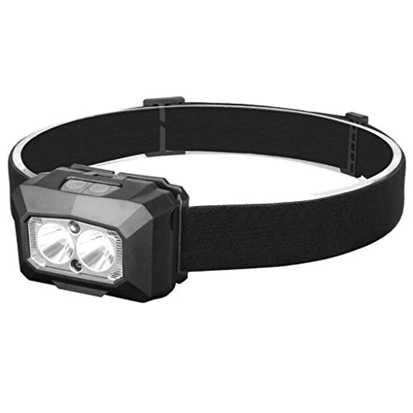 解明ペルーナサニエル区発信スタイルの楽しみCOB LEDヘッドライトモーションセンサーヘッドライトUSB充電式ヘッドランプライト