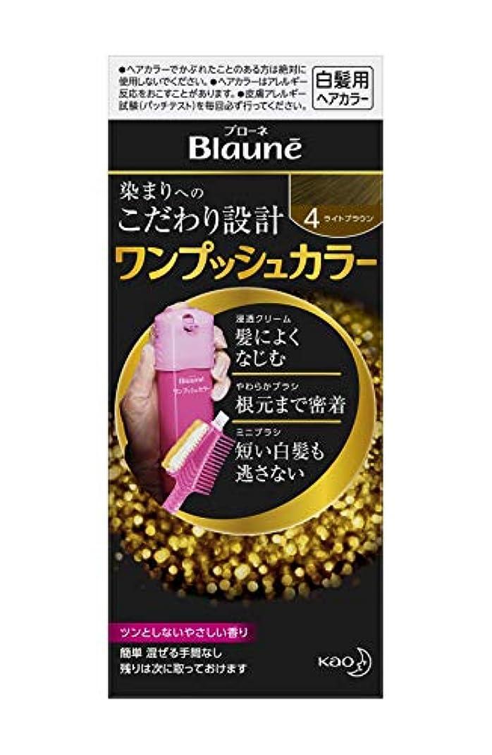 ブローネワンプッシュカラー 4 ライトブラウン 80g [医薬部外品]