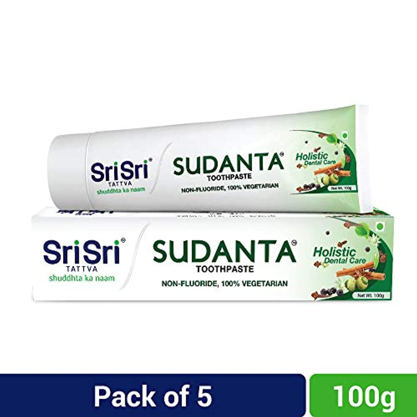 パパドラムペチコートSri Sri Tattva Sudanta Toothpaste, 500gm (100 x Pack of 5)
