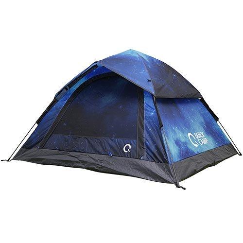 クイックキャンプ ワンタッチ テント 3人用 星柄