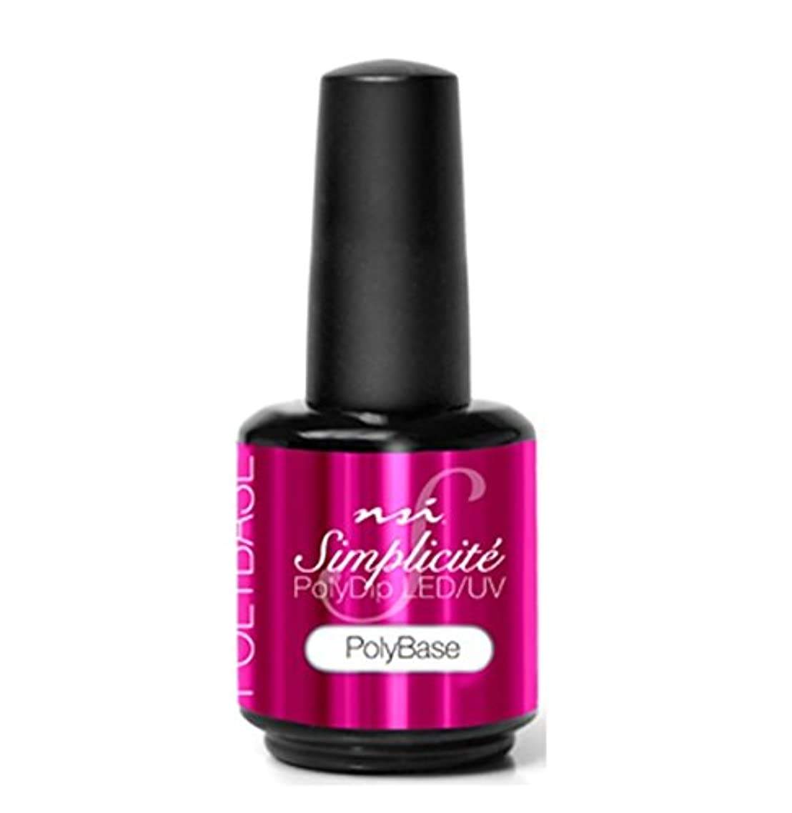 紛争学部長あたりNSI - Simplicité PolyDip LED/UV Polish - PolyBase - 15 ml/0.5 oz
