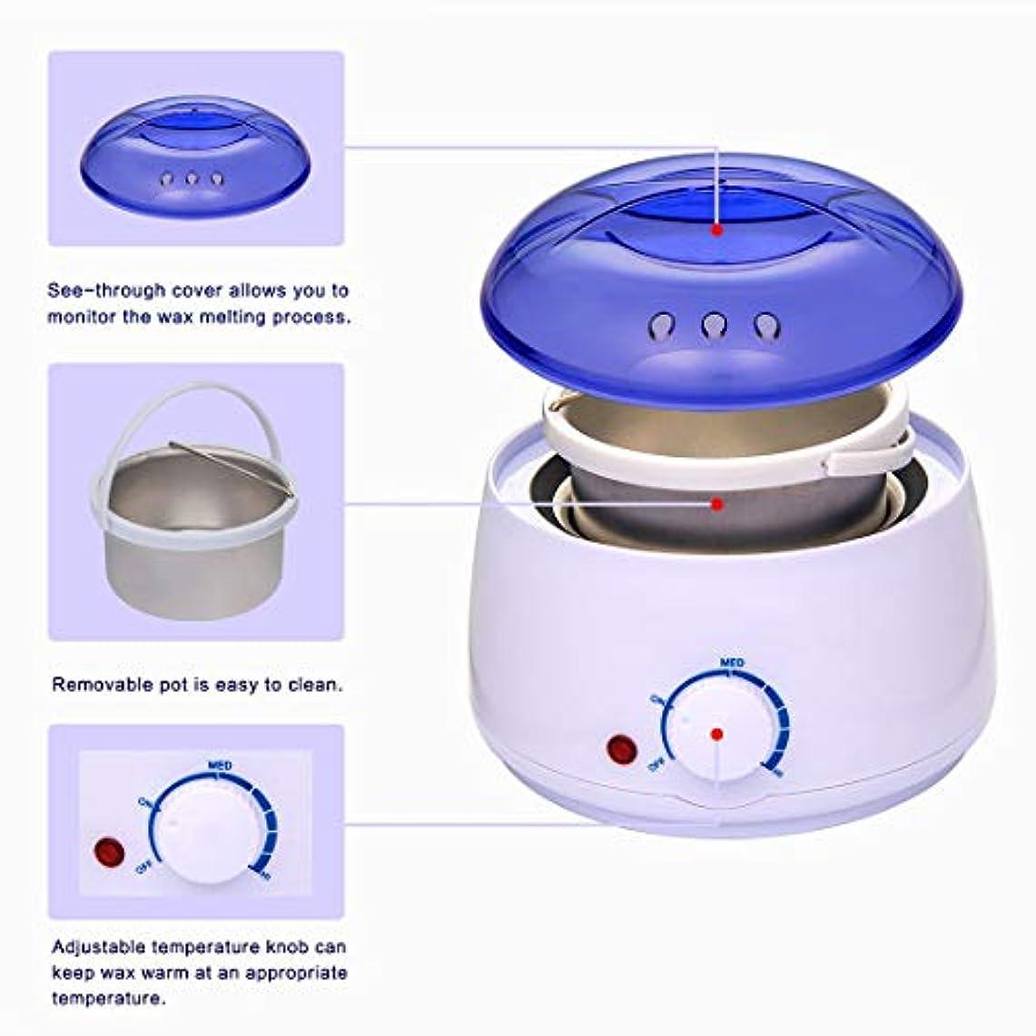 落ち込んでいるフィードバック人類4つのフレーバーハードワックス豆(100G /袋)とワックスウォーマー、ワックスヒーター、脱毛ワックスがけキットエレクトリックワックス暖房機の温度調節可能なワックスメルター、