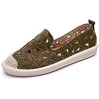 zaragfushfd Women Espadrille Flats Slip on Loafer Shoes Smocking Slippers