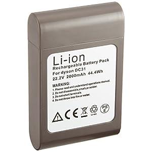 互換バッテリー ダイソン dyson 1個 【DC312】 22.2V 2.0Ah リチウムイオン電池 ネジなしタイプ 差込口ボタン式 CE PSE 2000mAh 工具 互換 バッテリー 電池 交換 家電 掃除機 DC312