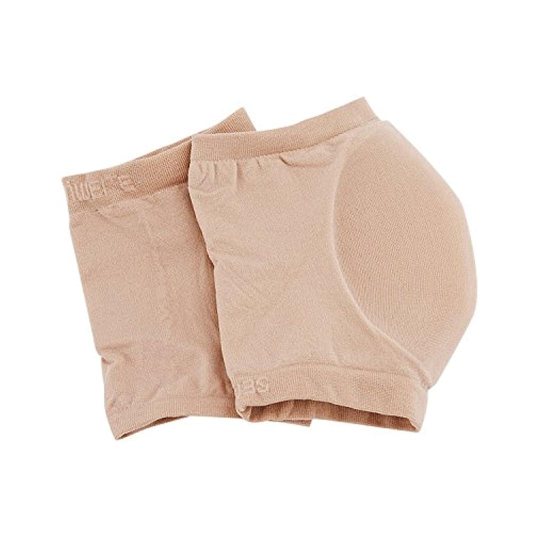 極貧バリークラウンかかと 保湿ソックス シリコン 足首用 保護カバー サポーター メンズ レディース ストレッチ性 保護スリーブサポーター 保湿 角質除去 乾燥肌を予防 薄手 柔軟 通気性 かかと靴下 ケア 左右セット M/L 肌色 洗える