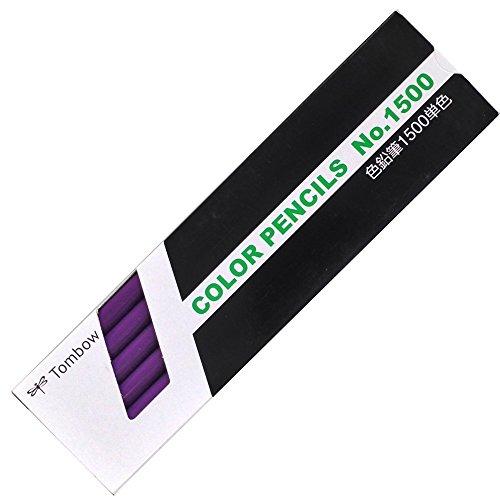 トンボ鉛筆 色鉛筆 1500単色 すみれ色 1ダース 1500-19