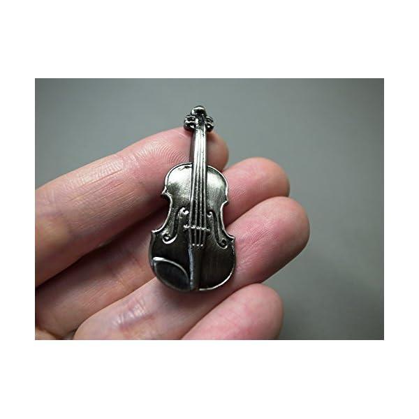 ナカノ スタンダードブローチ バイオリン シル...の紹介画像3