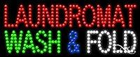 11x 27x 1インチLaundromat Wash & Foldアニメーション点滅LEDウィンドウサイン