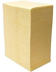 【125枚入】ネイルテーブルシート (イエロー) 防水加工 ジェルネイル ネイルペーパー ネイルマット 防水ネイルシート