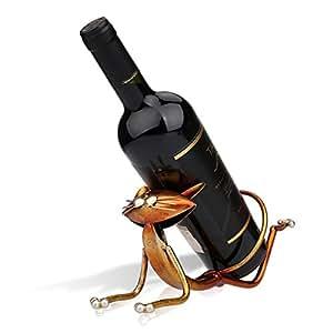 Tooarts ヨガの猫ワインホルダー ワイン棚 メタル彫刻 実用的 インテリア装飾 工芸品