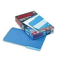 Pendaflex 435013BLU インテリアファイルフォルダー 1/3カットトップタブ リーガルサイズ ブルー 1箱100冊入り