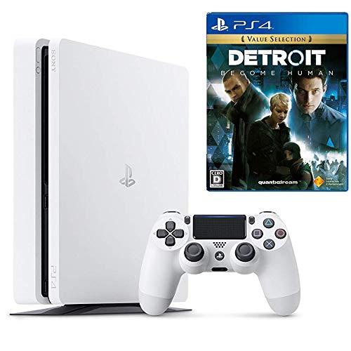 【プライムデー特別価格】PlayStation 4 グレイシャー・ホワイト 500GB Detroit: Become Human セット(CUH-2200AB01)